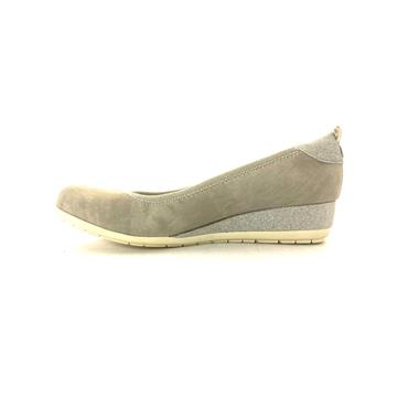 S OLIVER LDS 2TONE WEDGE COURT - LIGHT GREY