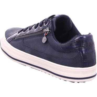 S OLIVER WOMENS ZIP LACE TRAINER - NAVY MULTI