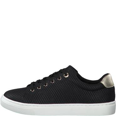 S OLIVER WOMENS LACE TRAINER - BLACK