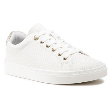 S OLIVER WOMENS LACE TRAINER - WHITE