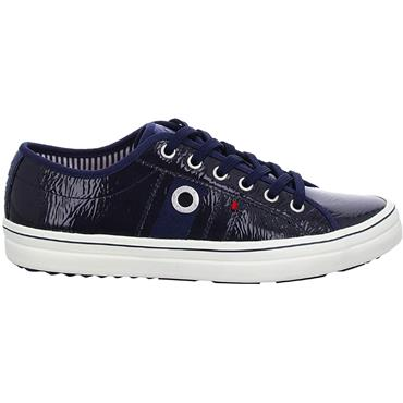 S OLIVER WOMENS CHUNKY LACE TRAINER - NAVY PATENT