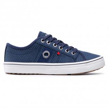 S OLIVER WOMENS SNAKE LACE TRAINER - NAVY SNAKE