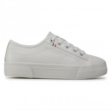 S OLIVER WOMENS LACE TRAINER - OFF WHITE
