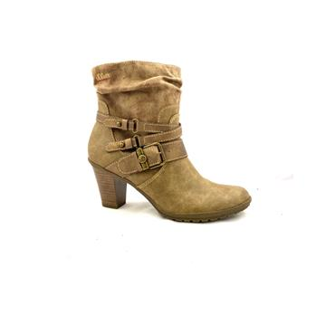 S OLIVER WOMENS 3 STRAP ZIP ANKLE BOOT - TAUPE