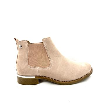 S OLIVER LDS LOW HEEL GUSSET ANKLE BOOT - OLD ROSE