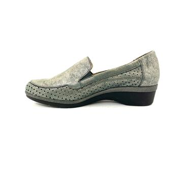 PITILLOS WOMENS WEDGE GUSSET SLIPON SHOE - GREY