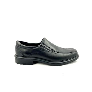 ECCO MENS SLIP ON HELSINKI SHOE - BLACK