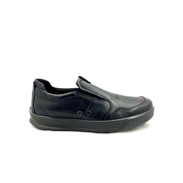 ECCO MENS GUSSET SLIP ON SHOE - BLACK