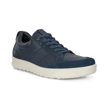 ECCO MENS CASUAL LACE SHOE - NAVY