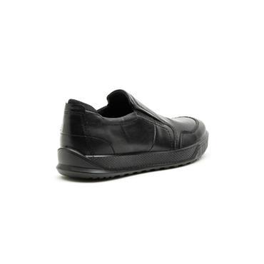 ECCO MENS CASUAL SLIP ON SHOE - BLACK