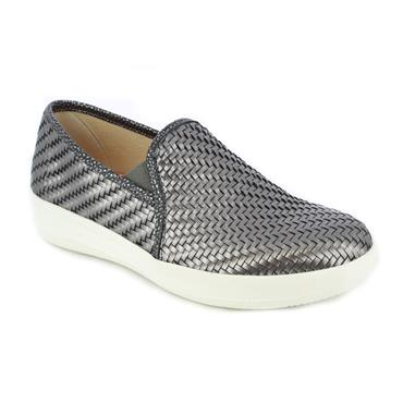 DR CUTILLAS LDS WEDGE SLIP ON SHOE - METALLIC