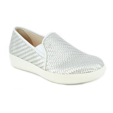 DR CUTILLAS LDS WEDGE SLIP ON SHOE - SILVER