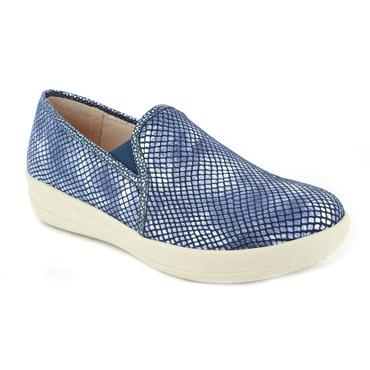 DR CUTILLAS LDS WEDGE SLIP ON SHOE - BLUE