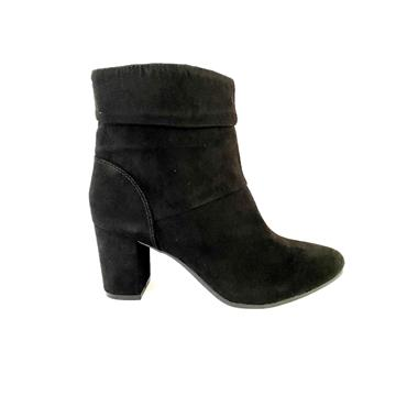 SPROX LDS ZIP ANKLE BOOT - BLACK SUEDE