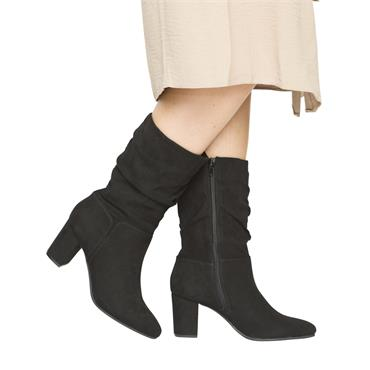 SPROX WOMENS LACE ZIP ANKLE BOOT - BLACK SUEDE
