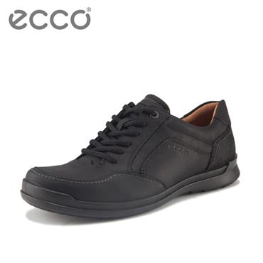 ECCO MENS COMFORT LACE SHOE - BLACK