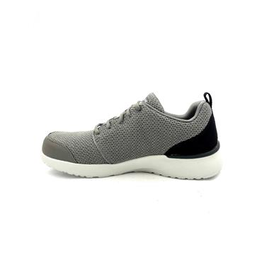 SKECHERS MENS AIR MEMORY FOAM TRAINER - CHARCOAL