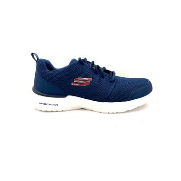 SKECHERS MENS AIR MEMORY FOAM TRAINER - NAVY RED