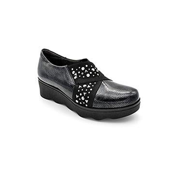 PITILLOS LDS WEDGE ELASTIC HIGH CUT - BLACK PATENT