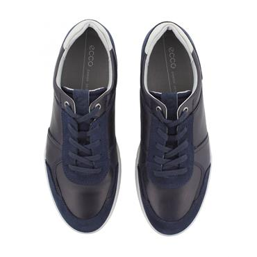 ECCO MENS CASUAL LACE SHOE - NAVY GREY