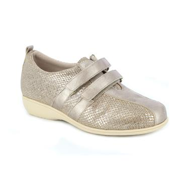 DR CUTILLAS WOMENS XTRA WIDE VEL SHOE - TAUPE
