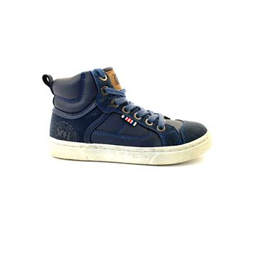 XTI BOYS ANKLE TIE BOOT - NAVY