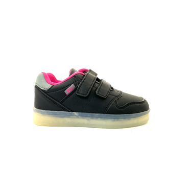 XTI GIRLS 2 STRAP VEL RUNNER - BLACK