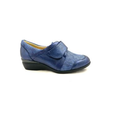 DR CUTILLAS WOMENS XTRA WIDE VEL SHOE - NAVY