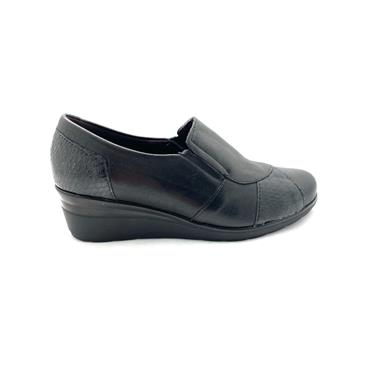 PITILLOS LDS WEDGE SLIP ON HIGH CUT SHOE - BLACK