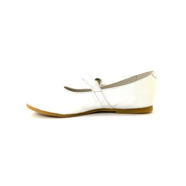 LEA LELO STRAP FLOWER PUMP - WHITE