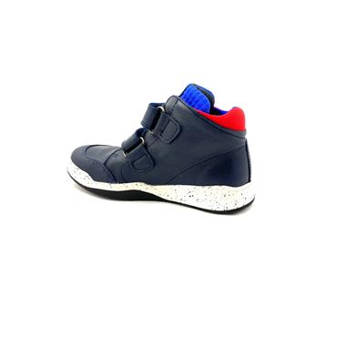 PABLOSKY BOYS 2 VEL STRAP BOOT - NAVY RED