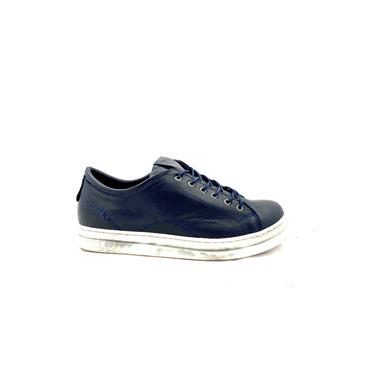 ROVIGO WOMENS LEATHER LACE SHOE - NAVY LEATHER