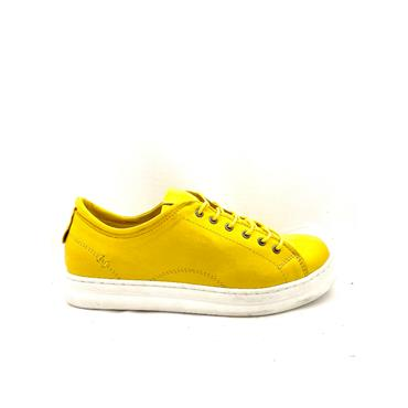 ROVIGO WOMENS LEATHER LACE SHOE - YELLOW LEATHER