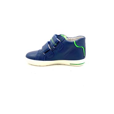 SUPERFIT BOYS 2 VEL STRAP ANKLE BOOT - NAVY LIME