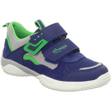 SUPERFIT BOYS 2 VELCRO STRAP TRAINER - BLUE/GREEN