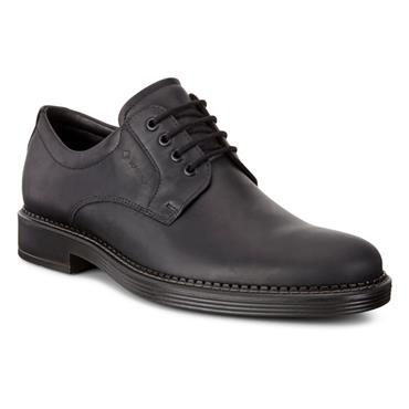 ECCO MENS GORETEX PLAIN LACE SHOE - BLACK