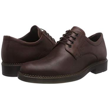 ECCO MENS GORETEX PLAIN LACE SHOE - BROWN