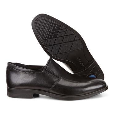 ECCO MENS DRESS SLIP ON SHOE - BLACK