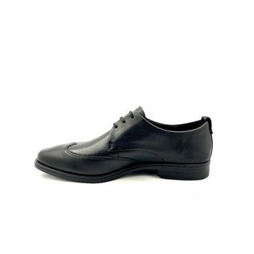 ECCO MENS DRESS PLAIN TOE LACE SHOE - BLACK