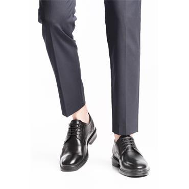 ECCO MENS DRESS PLAIN TOE LACE SHOE - BLACK
