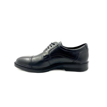 ECCO MENS LISBON TOECAP LACE SHOE - BLACK