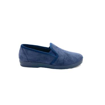 NATALIA MENS FULL SLIPPER - NAVY