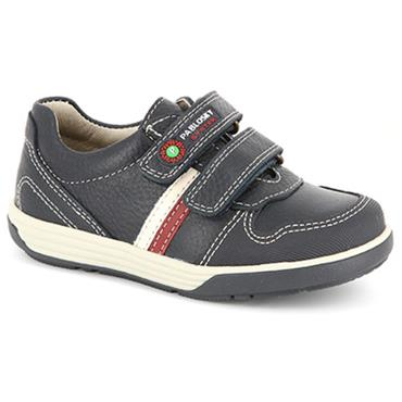 PABLOSKY BOYS 2 VELCRO STRAP SHOE - NAVY RED