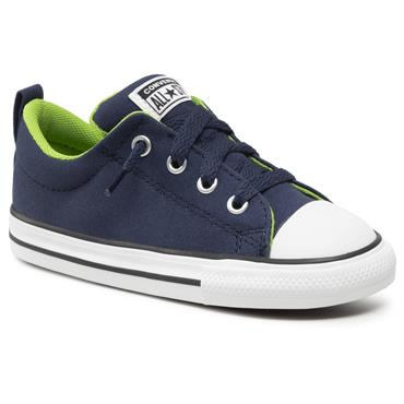CONVERSE BOYS CTAS STREET LACE TRAINER - NAVY GREEN