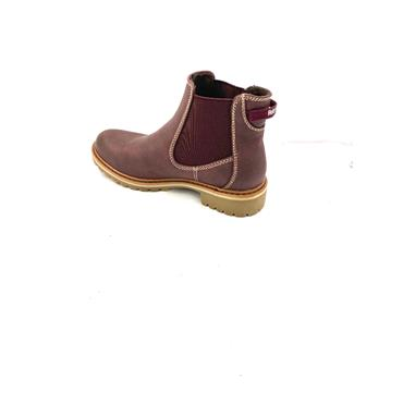 REFRESH LDS GUSSET ANKLE BOOT - BURGUNDY