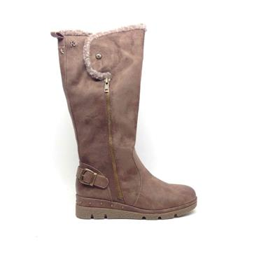 REFRESH WOMENS 2TONE FUR LINED 3/4 BOOT - TAUPE