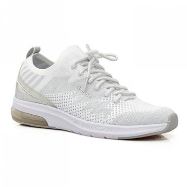 REFRESH WOMENS LACE TRAINER - WHITE