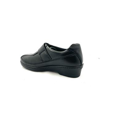 PINOSO WOMENS DIABETIC VELCRO STRAP SHOE - BLACK
