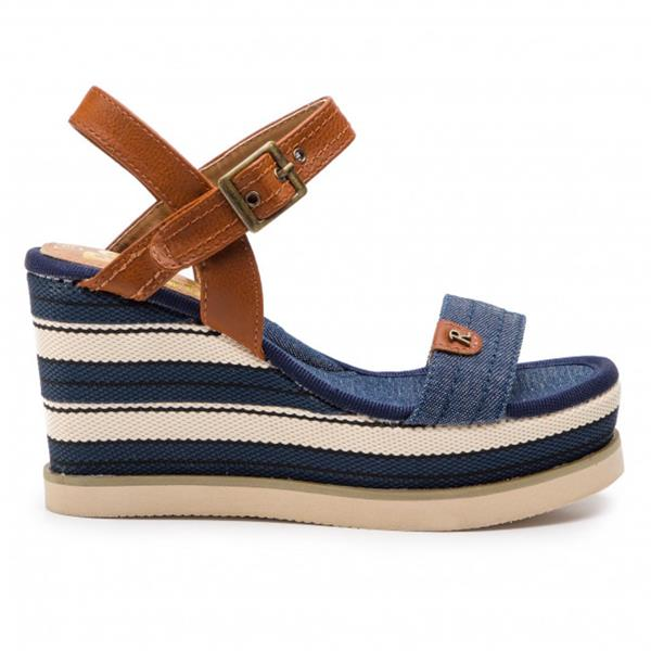 Details about  /Riva Womens Budino Leather Ladies Sandal Navy
