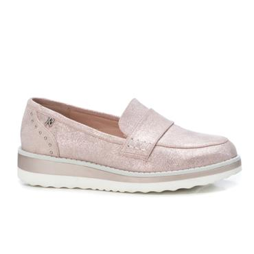 REFRESH WOMENS LOW WEDGE SLIP ON LOAFER - NUDE